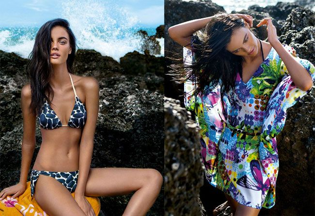 La collezione costumi da bagno 2015 firmata Liu Jo è ricca di modelli che vanno dal bikini triangolo o a fascia, tinta unita o con stampe floreali, al costume da bagno intero, impreziosito da stras...
