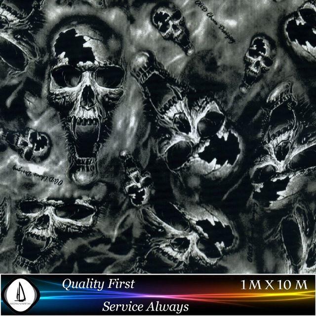 High Quality Hydrographic Film Skull Pattern No Ma355 1