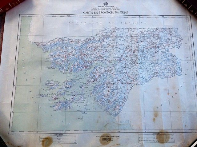 n subasta: https: //www. todocoleccion. net/mapas-contemporaneos/carta-da-provincia-da-guine-1961~x98762883 ///// ministerio do ultramar, junta de investigacoes do ultramar, centro de geografia do ultramar. escala: 1: 500. 000. 89 x 67 cm