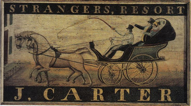 J Carter Tavern Sign - Vintage sign, tavern sign, antique sign, vintage, American, colonial American, reproduction, tavern, circa 1820, museum quality, colonial American sign company, lions eagles bulls, early American