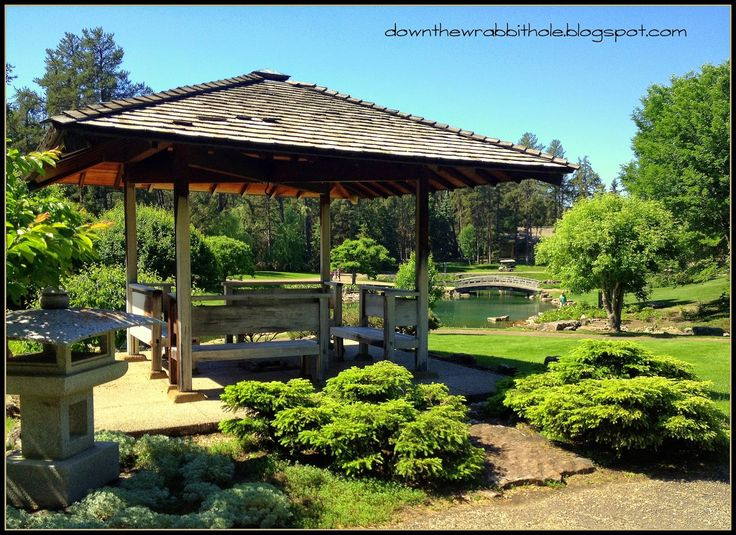 "The beautiful Kurimoto Japanese Garden at the Devonian Botanical Gardens near Edmonton. Find out more at ""Down the Wrabbit Hole - The Travel Bucket List"". Click the image for the blog post."