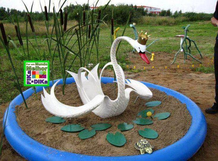 Fika a Dika - Por um Mundo Melhor: Bichos de Pneus Para Jardim