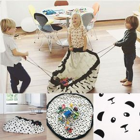 140cm Portable Kids Children Infant Baby Play Mat Large Storage Bags Toys Organizer Blanket Rug Boxes for Lego Toys
