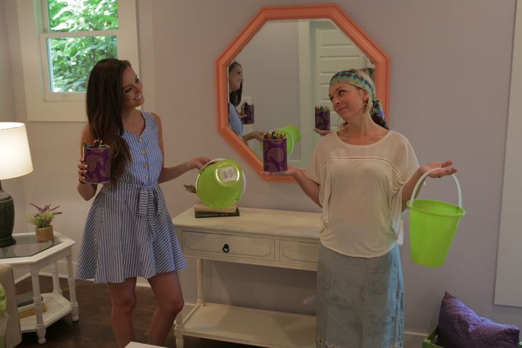 Abby & Kortney wondering where to place these fun staging accessories