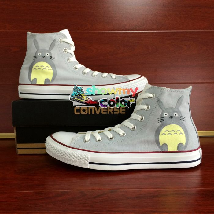 Sneakers Grey Converse Chuck Taylor Men Women Shoes My Neighbor Totoro Custom Design Hand Painted Shoes Man Woman Christmas Gift #Affiliate