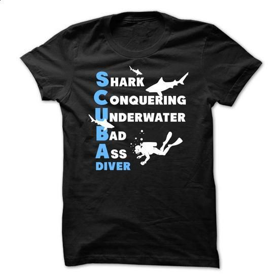 Awesome Scuba Diving Shirt - tshirt design #full zip hoodie #womens hoodie