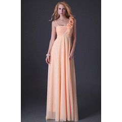 AFFORDABLE collection peach  lace up back  one shoulder cocktale evening dress !!! for R649.00