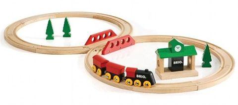 Circuit tradition en 8 (Brio) - Premier circuit de train en bois