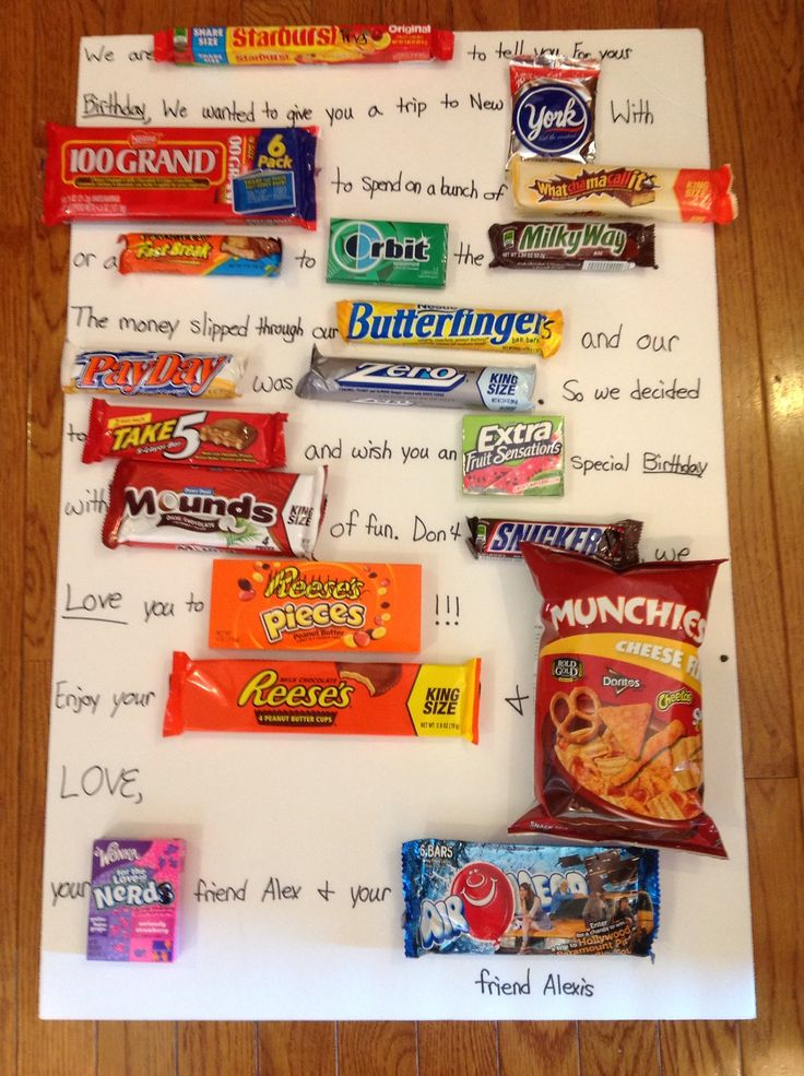 Teen Birthday Card with Candy courtesy of Alexis ...