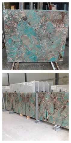 Walker Zanger saved to Tiffany Turquoise. These slabs of ‪#‎TiffanyTurquoise‬ AMAZONITE, laid out for inspection by Walker Zanger, are for a client's private residence at ONE 57- 157 W 57th Street, the Billionaire's Building, in New York City.