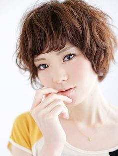 japanese perm super short hair
