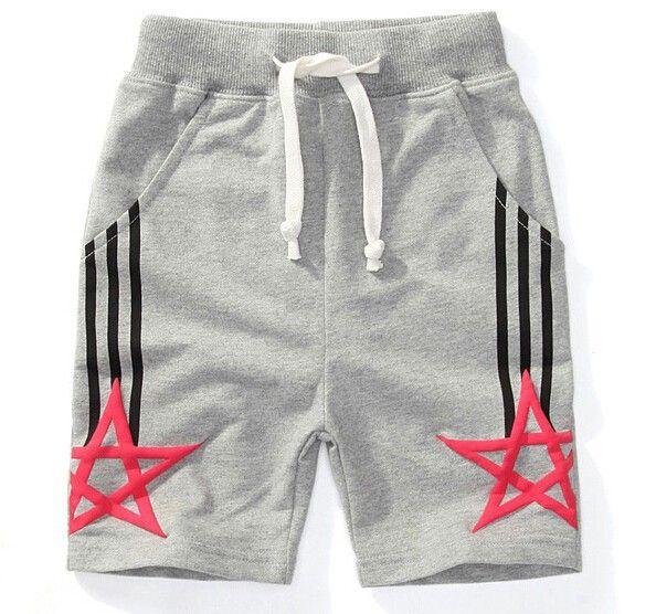 2015 envío gratis hot boys deportes cabritos de los cortocircuitos ocasionales media shorts cintura elástica color sólido de cinco estrellas patter pantalones cortos en Shorts de Bebés en AliExpress.com | Alibaba Group