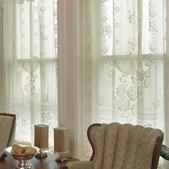 Victorian Rose 84″ Panel – Heritage Lace Romantic Collection – 2860E-6084, 2860W-6084   Lace Curtain Store