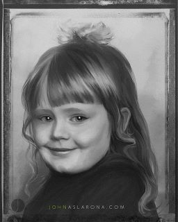 Adele as a child (a portrait by a fan. If you know where the original photo is, please let me know)  http://celebrity-childhood-photos.tumblr.com/