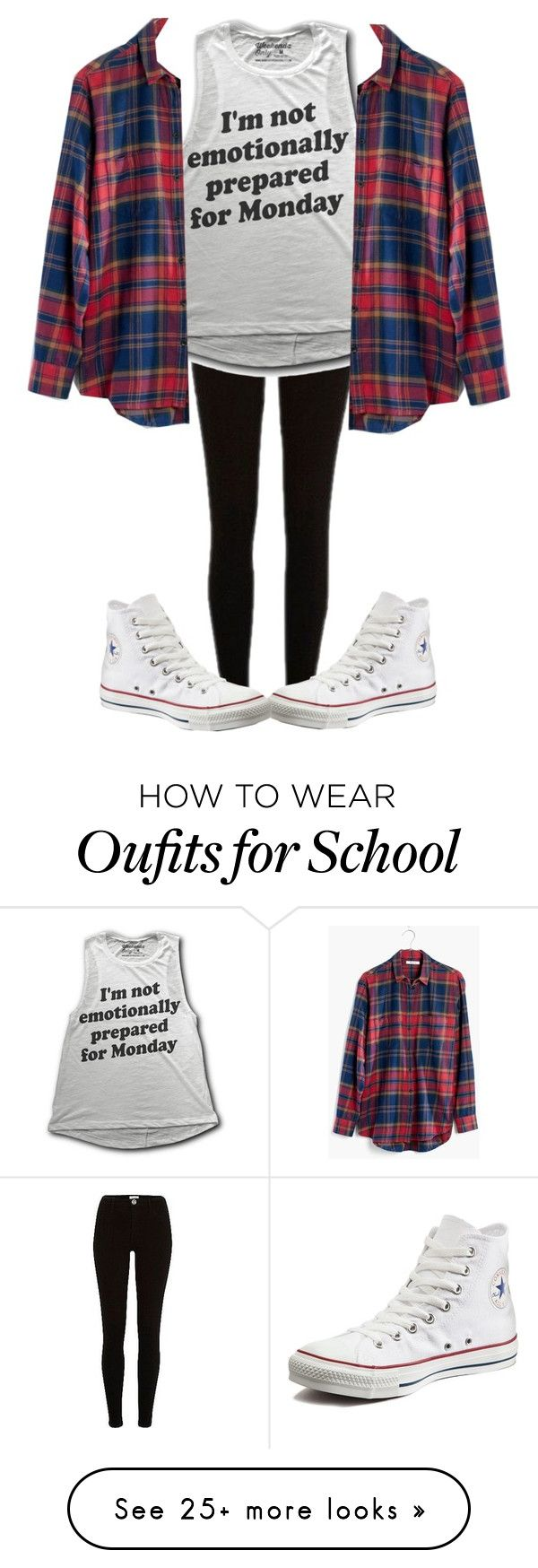 """""""i don't wanna go to school, yes it's true """" by sydthekyd01 on Polyvore featuring River Island, Madewell and Converse"""