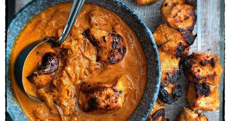 Britain's favourite dish; the classic chicken tikka masala. This infamous chicken curry recipe from Madhur Jaffrey features garlic, ginger, cumin and coriander.