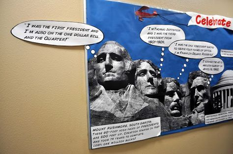 ewe hooo!: School Bulletin Board Update — Presidents' Day and more