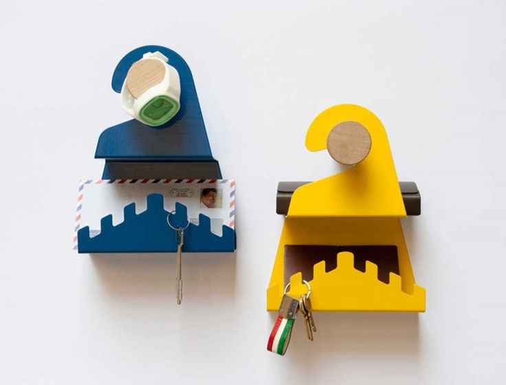 This witty and fun shelving set has been designed by Italian studio Officina41. Inspired by the Do Not Disturb sign, these little shelves offer just a perfect space and function ratio for an entryw...