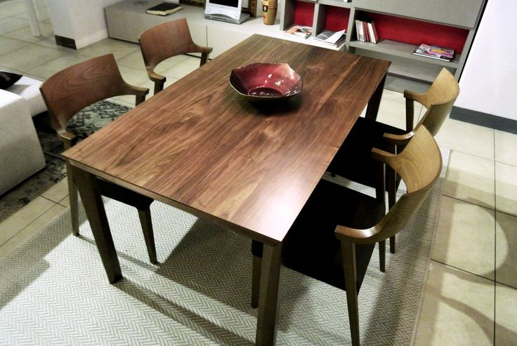 Tavolo allungabile impiallacciato noce. Extending table walnut veneer.