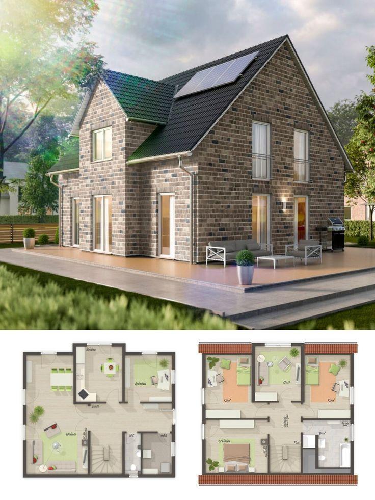 Einfamilienhaus Neubau im Landhausstil mit Klinker fassförmig, Satteldach Baumeister…