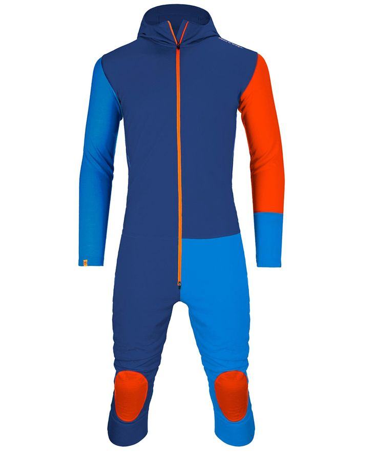 Backpacking Weight: 400 g (XL) This colorful overall is an excellent first layer that offers a comfortable body climate to solo hikers who expect cold days. Made from 100% wool, it allows great moisture management, is highly breathable, quick drying and assumes no unpleasant odors. The long front zipper makes it easy to slip it on and off and the back zipper makes it easier when nature calls. Spandauer Solo Hiker, winter hiking, first layer