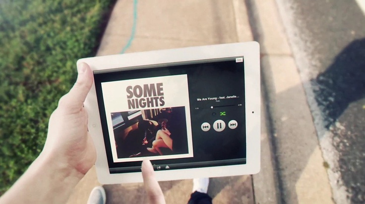 New spotify ipad app has a killer design