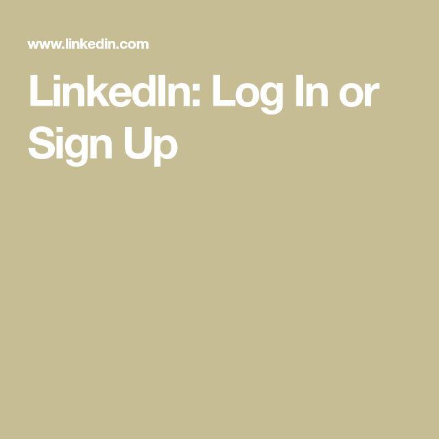 LinkedIn: Log In or Sign Up