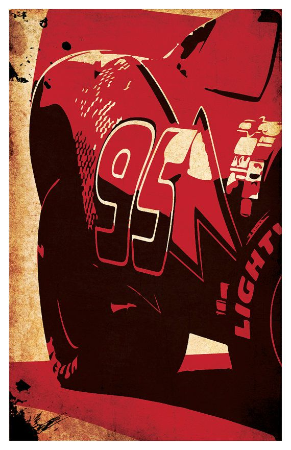 Cars Lightning McQueen poster set 11x17 by PosterGeek on Etsy