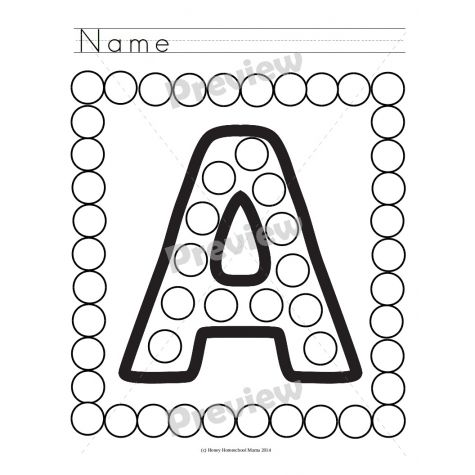 Do-A-Dot Uppercase and Lowercase Letters - 52 Sheets!  - 3 This set features a do-a-dot marker for each uppercase and each lowercase letter of the alphabet. There is also a list of alternative uses included in case you want to try other things or do something besides use do-a-dot markers. However, do-a-dot markers are well loved. :-D