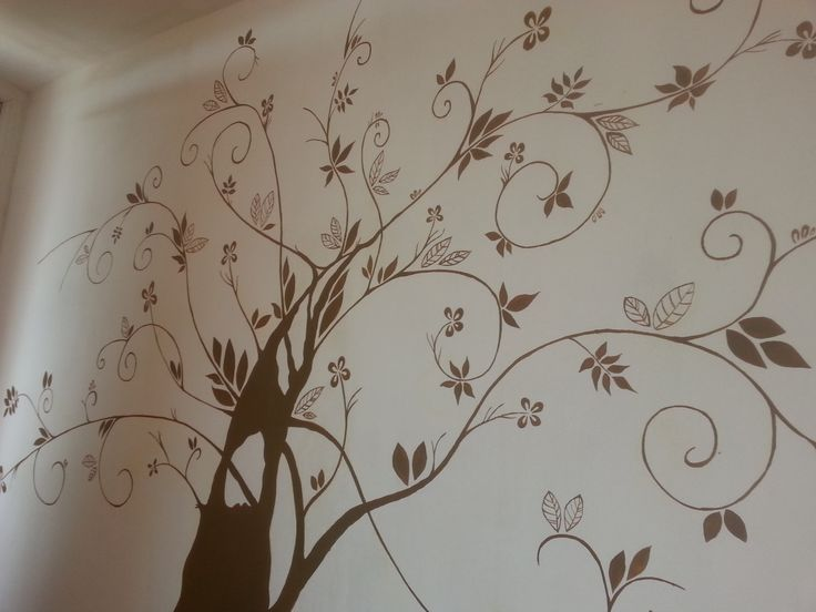 Ruční malba obývací pokoj