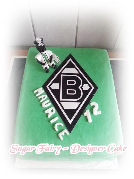 Football Cake Borussia Mönchengladbach https://www.facebook.com/fairy.designer.cake/