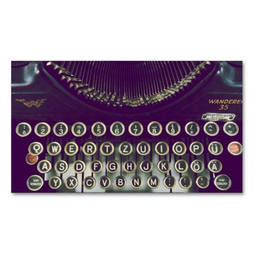 old fashioned typewriter business cards #BusinessCard #Design #GraphicDesign
