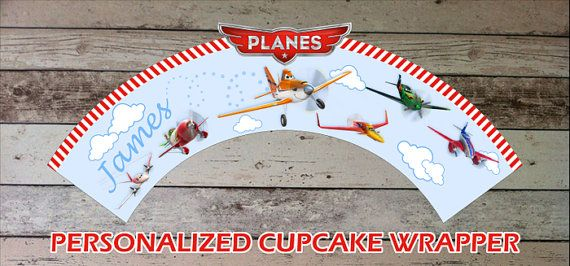 Disney Planes Personalized Cupcake Wrapper - Digital File - Printable for Disney   Planes Party Theme on Etsy, kr24,10