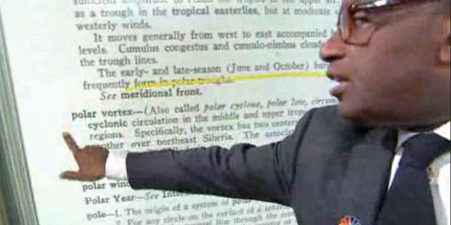 Onomatopoeia='Rrr-u-SSHH  limm-BAAHHH' (definition): a rush of hot air released on a whim, without adequate planning or forethought, such that it redefines and reconstructs something that used to be just plain facts.  Sounded like flatulence up until that last part.  http://www.addictinginfo.org/2014/01/09/al_roker_polar_vortex/