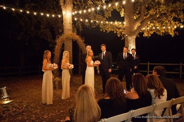 Beautiful Outdoor Evening Wedding Ceremony - The French Bouquet - C.C. Miller Photography - Farthing Events