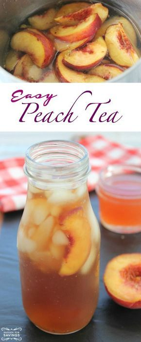 Easy Peach Tea Recipe! Summer Drink Recipe for Sweet Iced Tea! http://forkinrecipes.com