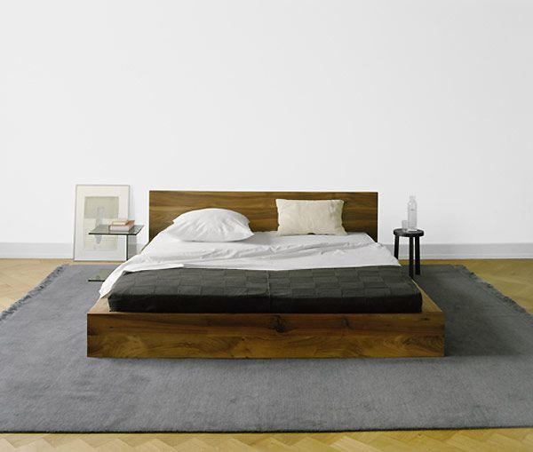 another nice platform bed low to the ground and no frills - Wooden Bed Frame