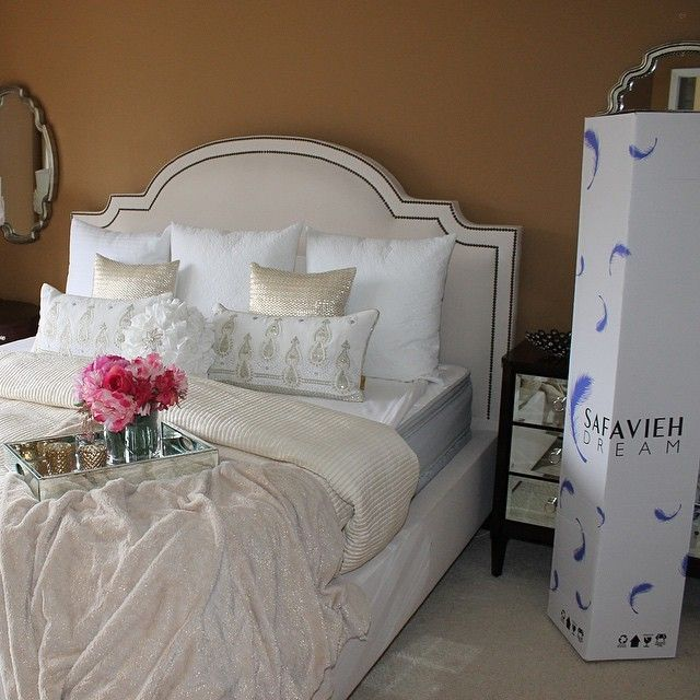 Sharing my bedroom, my sanctuary. But a room is not a sanctuary without a comfortable mattress. We love our @Safavieh_Official Mattress! Shipped to us in this box. Check out their mattress giveaway! --@Safavieh_Official@Safavieh_Official... - Interior Design Ideas, Interior Decor and Designs, Home Design Inspiration, Room Design Ideas, Interior Decorating, Furniture And Accessories