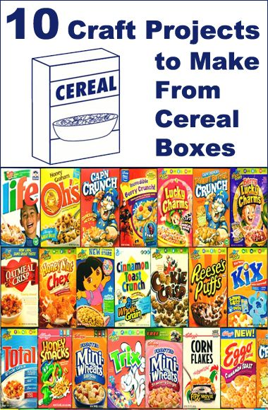 10 Craft Projects to Make From Cereal Boxes