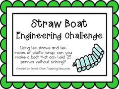 Straw Boats: Engineering Challenge Project ~ Great STEM Activity!