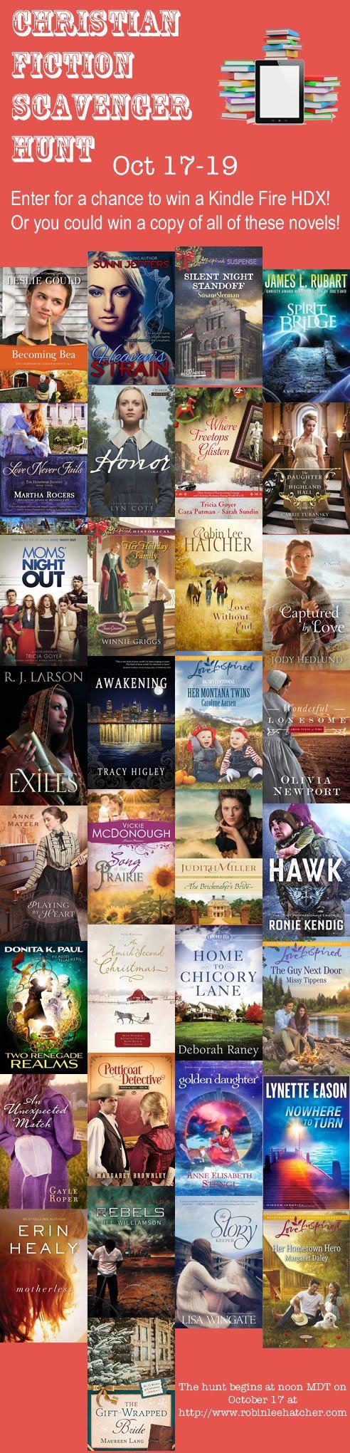 Christian Fiction Scavenger Hunt - Win a Kindle Fire!