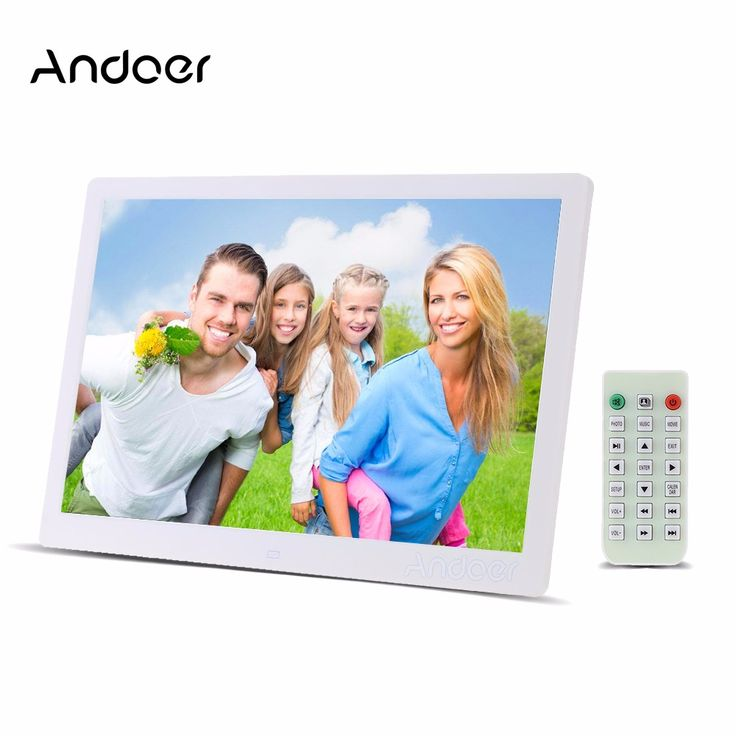 """Andoer 15.6"""" LED Digital Photo Frame 1280*800 High Resolution Picture Frame With Alarm Clock MP3 MP4 Movie Player Remote Control"""