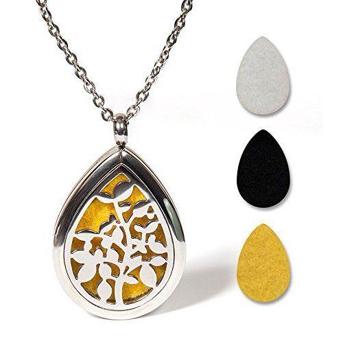 Essential Oil Diffuser Necklace {Silver Tree}