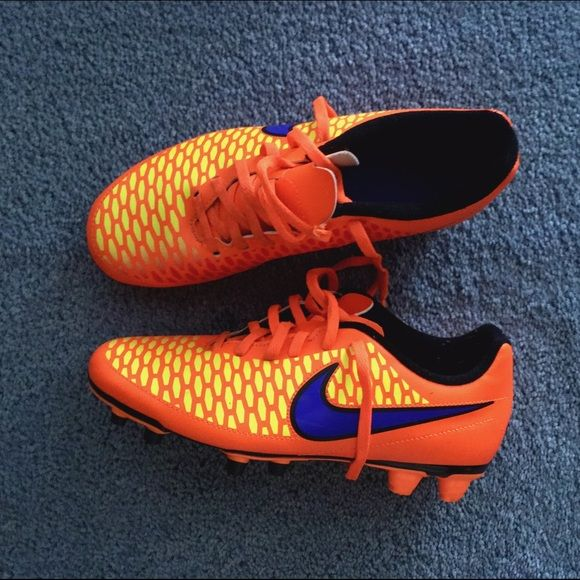 Nike soccer cleats Nike Magista ola fg's Brand new (worn twice) Size 6.5 for boys Fits size 8 for girls comes with box (optional, let me know when purchasing) Nike Shoes Athletic Shoes
