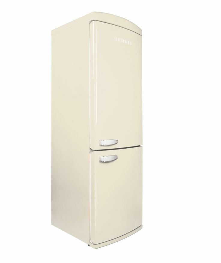 Buy Servis C60185N Retro Frost Free Fridge Key specifications:  Size H175.4, W60.5, D63.6cm. Energy efficiency rating: A+. Energy consumption: 280kWh per year based on standard test results for 24 hours. Storage capacity 11 cu ft. Net fresh food storage volume 241 litres. Net frozen food storage volume 70 litres. Star rating: 4. Noise level 42dB. £680