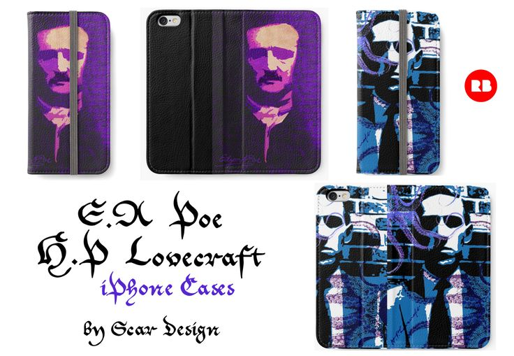 Edgar Allan Poe &  H.P Lovecraft  iPhone Cases by Scar Design. #edgarallanpoe #hplovecraft #iphonecases #poegifts #poeiphonecase #lovecraftiphonecase #lovecraftgifts #horror #gothic #scifihorror #cthulhu #victorianhorror #gothicgifts #giftsforhim #giftsforher #redbubble #scardesign