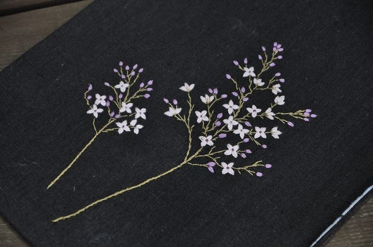 야생화자수 야생화느낌자수 스티치북-수수꽃다리 : 네이버 블로그