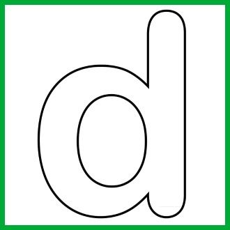 Lower Case Alphabet Letter d Template and Song | puzzles ...