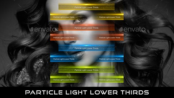 Particle Light Lower Thirds 12 Lower thirds | Full HD 1920×1080 | Quicktime PNG alpha codec | Each 10 seconds.  Available in 4 colors : Gold, Red, Blue, Green  #videohive #motiongraphic #aftereffects #caption #classy #elegant #enlightenment #flares #gold #lights #professional #red #simple #spiritual #title #translucent #yellow #lowerthird