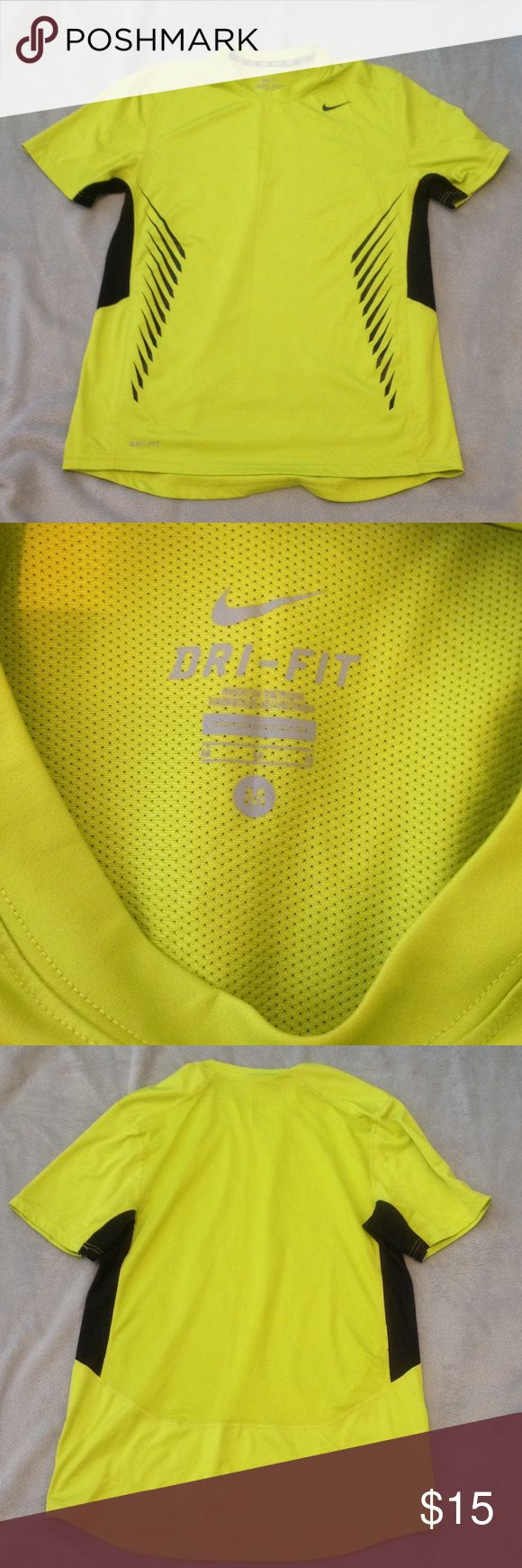 Nike Dri fit Nike Dri fit bright yellow/green. Like a lemon lime color Size medium. Bundle with another M dri fit shirt in my closet for better deal! Nike Shirts Tees - Short Sleeve
